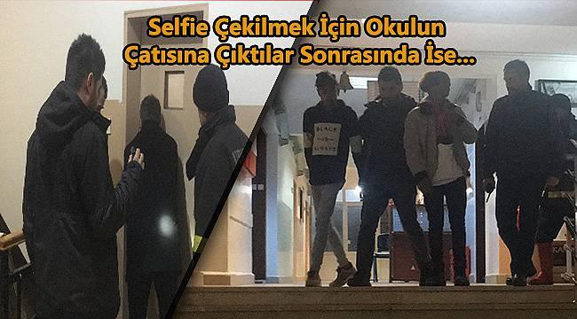 Selfie Çekmek İçin Okulun Çatısına Çıkan Çocuklar Mahsur Kaldı