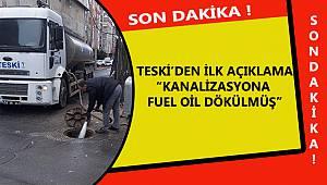 Yetkililer Doğruladı Kanalizasyona Fuel Oil Dökülmüş
