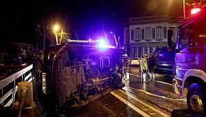 Beşiktaş'ta Trafik Kazası, 1 Yaralı