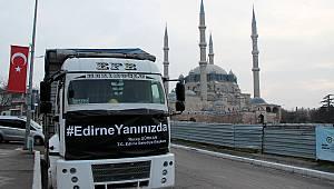 Edirne'den Elazığ'a Bir Kamyon Yardım Malzemesi Gönderildi