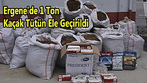 Ergene'de 1 Ton Kaçak Tütün Ele Geçirildi