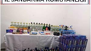 Gönen'de Kaçak İçki ve Sigara Operasyonu