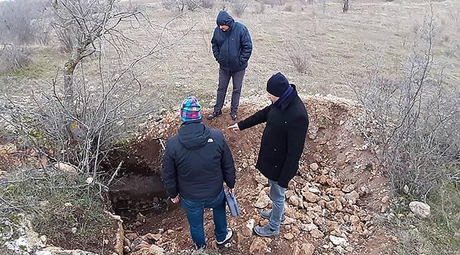 Kaçak Kazı Alanında İnceleme Yapıldı