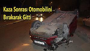 Kaza Sonrası Otomobilini Bırakarak Gitti