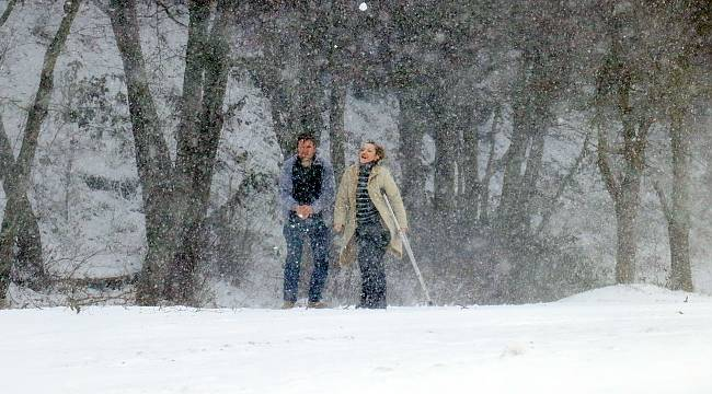 Kırklareli'nde Yoğun Kar Yağışı Başladı