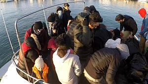 Lastik Botta 36 Düzensiz Göçmen Yakalandı
