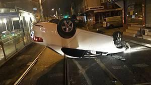 Otomobil Takla Attı, 2 Yaralı