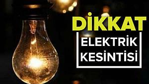 Pazar Günü Yine Bu İlçelerde Elektrik Yok!