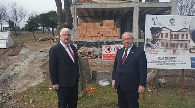 Başkan Yüksel Başkan Albayrak İle Atatürk Evi Projesindeki Çalışmaları İnceledi