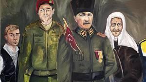 Hastanenin Kantin Duvarına Türkiye'nin Kahramanlarını Resmetti