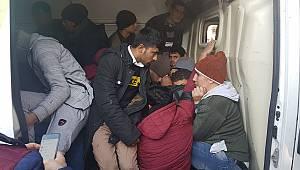 Kırklareli'nde 29 Düzensiz Göçmen Yakalandı