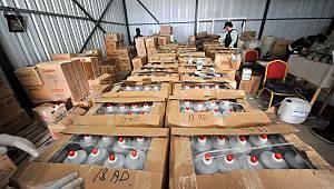 20 Ton Kaçak Dezenfektan Ele Geçirildi