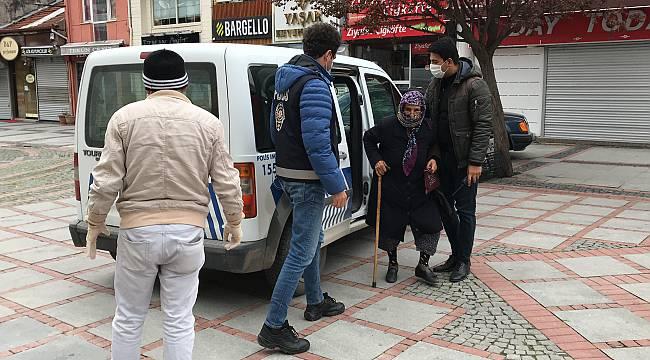 80 Yaşındaki Saniye Teyze Emekli Maaşını Polis Ekipleriyle Çekti