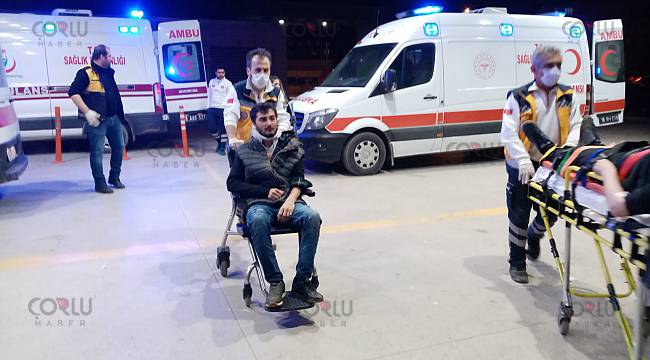 Bursa'da Kazazedenin Basın Mensubuna Saldırısı Kameralara Yansıdı