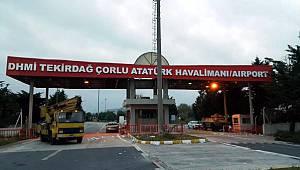 Çorlu Atatürk Havalimanı'nda Uçuşlar Durduruldu