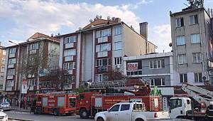 Edirne'de İş Merkezinde Yangın