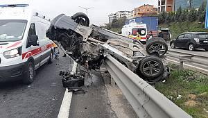 Feci Kazada Sürücü Ağır Yaralandı