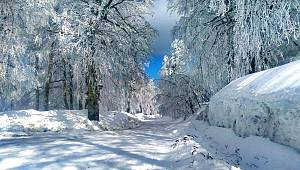 Kartepe'de Kar Kalınlığı 66 Santimetre Ölçüldü