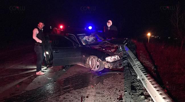 Otomobillerin Çarpıştığı Kaza Ucuz Atlatıldı