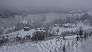 Sakarya'ya Kar Yağdı