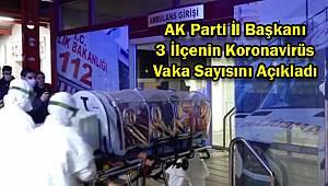 AK Parti İl Başkanı 3 İlçenin Koronavirüs Vaka Sayısını Açıkladı