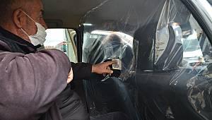Taksi Şoföründen Koronavirüse Brandalı Önlem