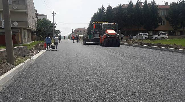 Sağlık Mahallesi 9. Sokakta Asfalt Çalışması Tamamlandı