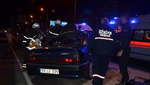 Otomobil Takla Attı, 1'i Ağır 4 Yaralı