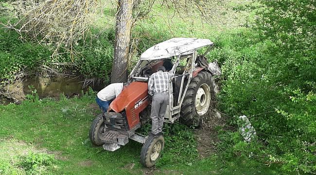 Traktör Devrildi, 1 Yaralı