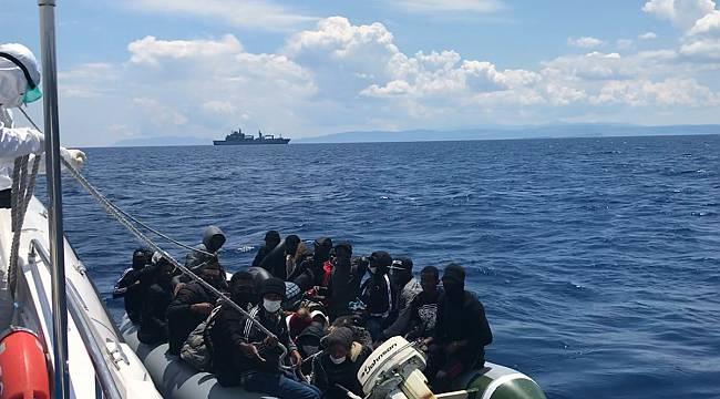 Türk Kara Sularına İtilen 85 Sığınmacı Kurtarıldı