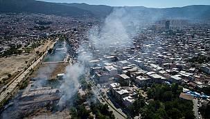 Bursa'da Otluk Alanda Yangın