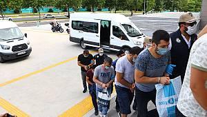 FETÖ Operasyonunda Gözaltına Alınan 6 Zanlı Adliyeye Sevk Edildi