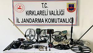 Kırklareli'nde Tarihi Eser Kaçakçılığı Operasyonu, 5 Gözaltı
