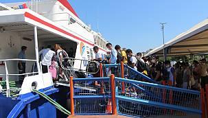 Bandırma'da Tatilcilerin Dönüş Yoğunluğu
