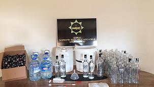 Kaçak İçki İmal Edilen Eve Operasyon Düzenlendi