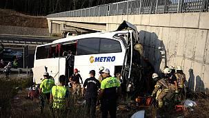 Kuzey Marmara Otoyolu'nda Otobüs Kazası, 5 Ölü 25 Yaralı