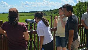 Longoz Ormanlarındaki Kuş Gözlem Kulesi Ziyaretçilerin İlgisini Çekiyor