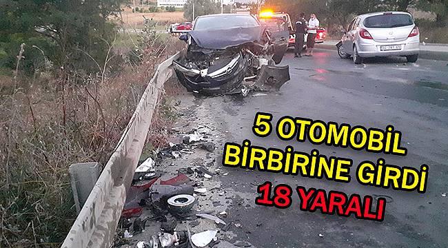 Silivri'de Zincirleme Trafik Kazası, 18 Yaralı