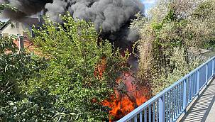 Şişli'de İş Yerinde Yangın