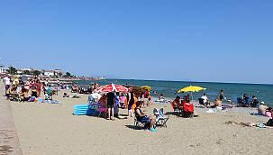 """Tekirdağ """"Mavi Bayraklı"""" Plajlarıyla Tatilcileri Cezbediyor"""