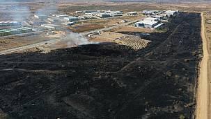 Edirne OSB'nin Meralık Alanında Çıkan Yangın Söndürüldü