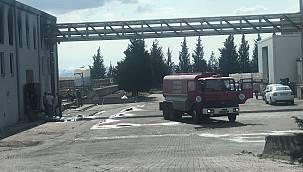 Ergene'de Fabrikada Çıkan Yangın Söndürüldü