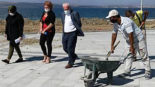 Lapseki'de Sahil Projesi Çalışmaları Devam Ediyor
