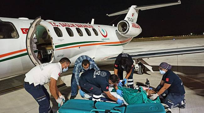 Uçak Ambulans 18 Yaşındaki Genç İçin Havalandı