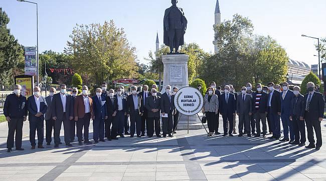Edirne'de Muhtarlar Günü Dolayısıyla Tören Düzenlendi