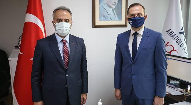 Bursa Büyükşehir Belediye Başkanı Alinur Aktaş'tan AA'ya Ziyaret
