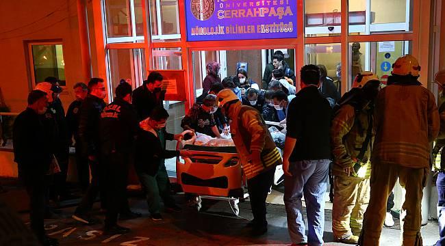 İstanbul Üniversitesi Cerrahpaşa Tıp Fakültesinde Çıkan Yangın Söndürüldü
