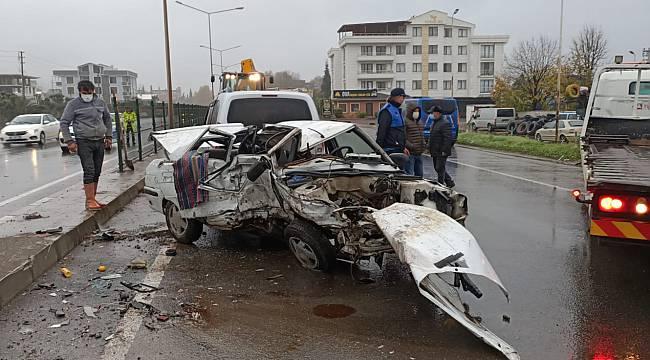 Yalova'da Zincirleme Kaza, 1 Ölü, 10 Yaralı