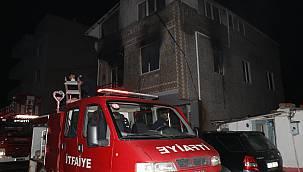 Yangında Mahsur Kalan Anne ve Kızı İtfaiye Ekiplerince Kurtarıldı