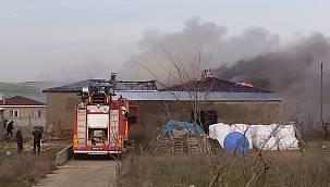 Hayvan Çiftliğinde Yangın Çıktı